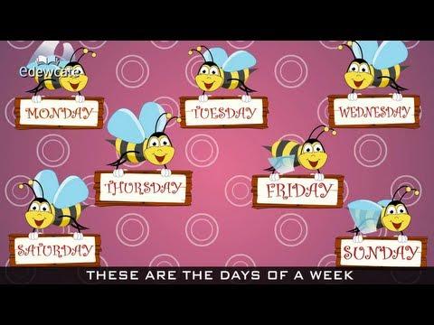 Edewcate english rhymes   Days of the Week Nursery Rhyme