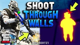 GTA 5 Online Sniper Glitch! How To Shoot Through Walls Buildings (GTA 5 Glitches)