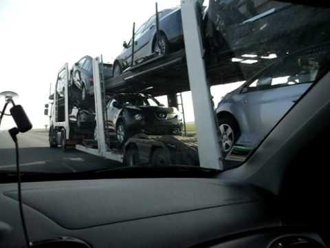 camion transport dechaume porte voiture youtube. Black Bedroom Furniture Sets. Home Design Ideas