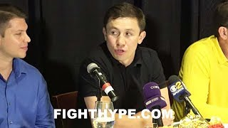(DAAAMN!) GOLOVKIN SAYS CANELO SCARED TO LOOK IN HIM THE EYES; REACTS TO UNWILLINGNESS TO FACE OFF