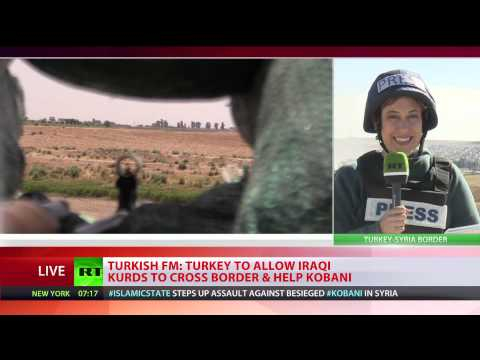 Turkey allows Kurdish forces through to Kobani to fight ISIS