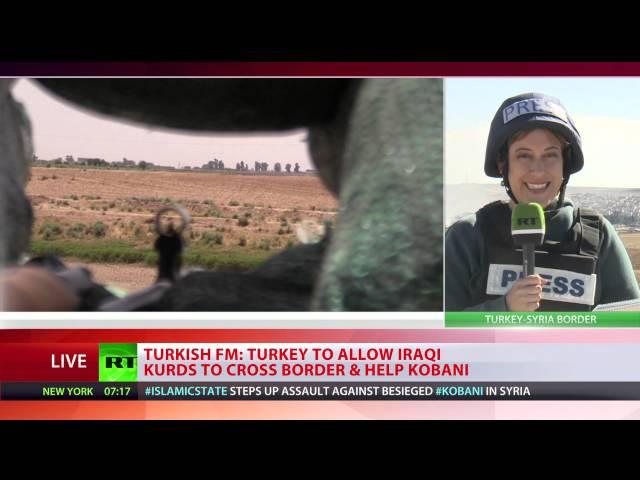 Turkey allows Kurdish forces through to Kobani to fight ISIS
