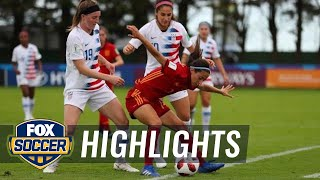 USWNT U-20s draw with Spain, eliminated from U-20 World Cup | 2018 FIFA U-20 Women's World Cup™