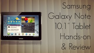 Samsung GALAXY Note 10.1 Tablet Hands-On & Review Vs Note 5.3