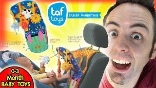0-3 MONTHS BABY TOYS | Taf Toys Car Seat Toy Unboxing & First Look Review