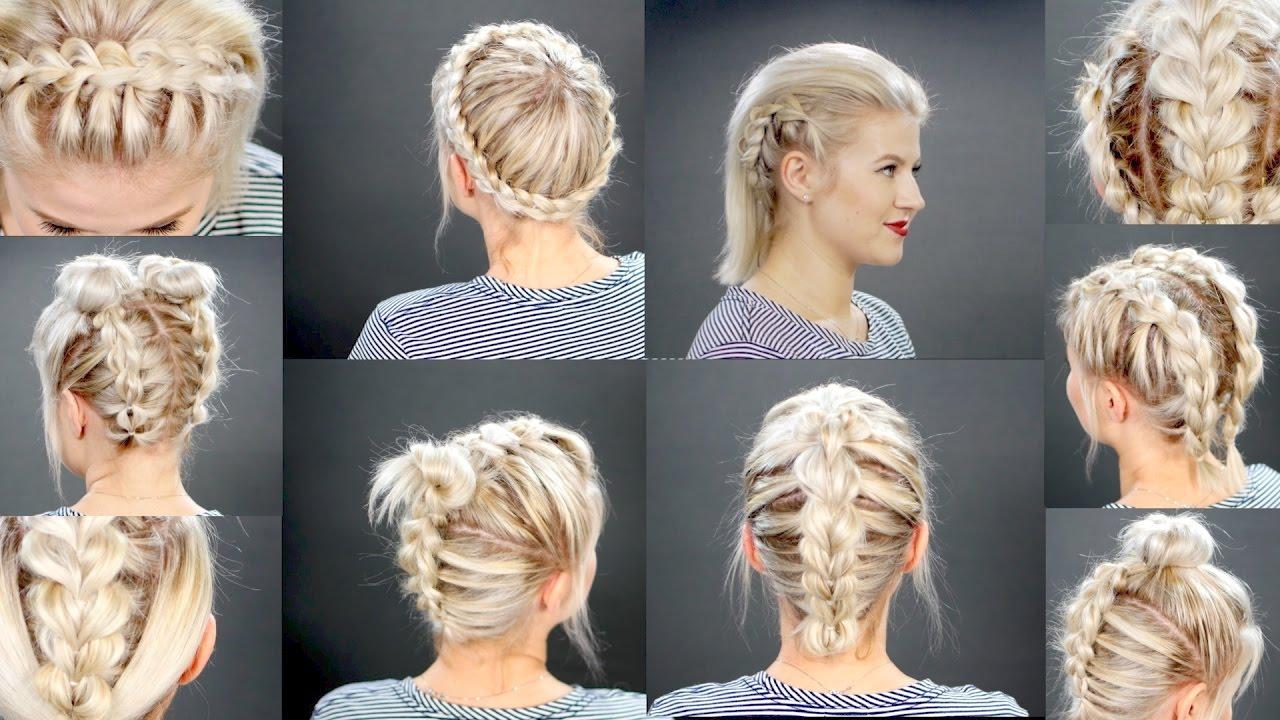 Легкая причёска на короткие волосы