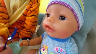 Little boy Pretend play with Baby doll and build PlayHouse for Kids. Learn colors and simple Englis