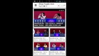 Video clip Ứng dụng giải trí show truyền hình [Vuonapp.com]