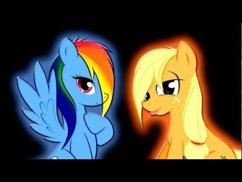 my little pony rainbow dash and applejack song youtube