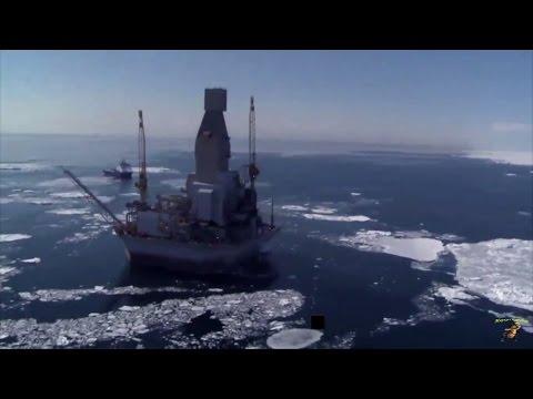 Охотское море, буровая платформа ОРЛАН