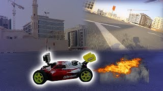 CRAZY RC CAR BURNOUTS IN DUBAI !!!