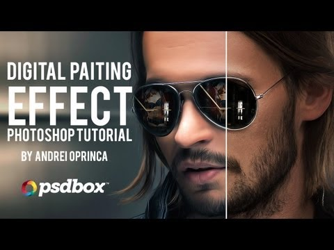 Digital Painting Effect on Portraits - PSD Box