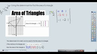Area of triangle with the help of Determinants - Full tutorial in Hindi