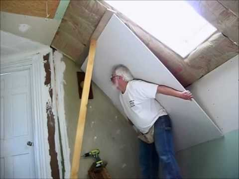 How to hang overhead sheetrock alone youtube for What is the best way to hang pictures on drywall