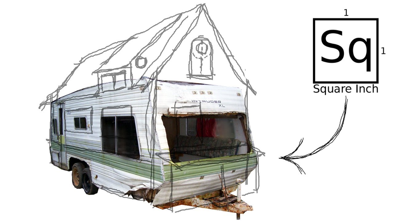 Building a tiny house 1 salvaging a trailer youtube for Rough cost to build a house