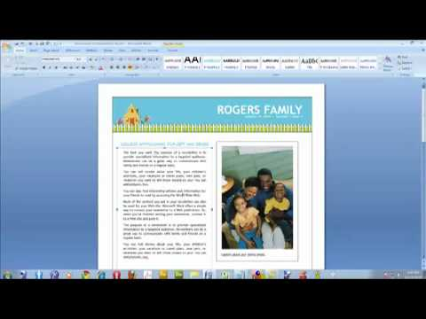 how to create a newsletter using microsoft word video youtube. Black Bedroom Furniture Sets. Home Design Ideas
