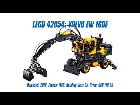 'LEGO Technic 42053: Volvo EW 160E' Unboxing. Parts List. Speed Build & Review
