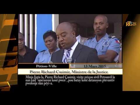 Le Ministre de la Justice, Pierre Richard Casimir visite la prison civile. de Pétion-ville.
