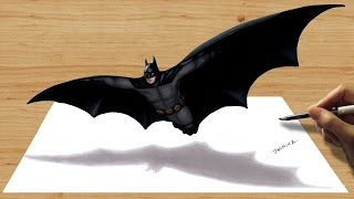 3D Colored Pencil Drawing: Batman - Speed Draw | Jasmina Susak