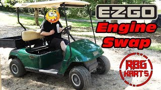 EzGo Golf Cart Engine Swap Ep1