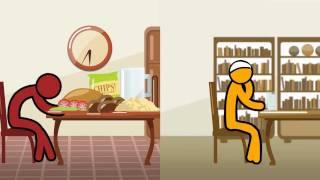 Halal Islamic Cartoon 1 - Funny Eating Contest in Ramadan