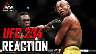 UFC 234 Live Reaction, AEW-Kenny Omega, WWE Road To WrestleMania | From All Angles LIVE