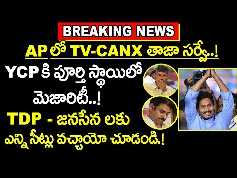 TV-CANX తాజా సర్వే : YCPదే విజయం | TV-CANX survey of AP | AP Latest Survey | 2019 Elections in AP