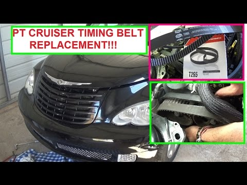 Chrysler PT Cruiser Timing Belt Replacement  2.4 Engine.  How to replace the timing belt