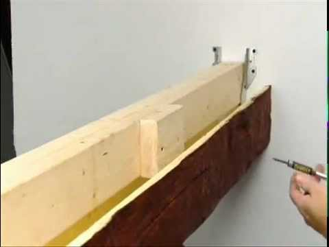 Suspended faux beam installation superior building for Where to buy faux wood beams