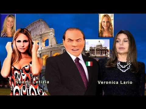 Silvio Berlusconi with Veronica Lario and Noemi Letizia Divorce Italian Style