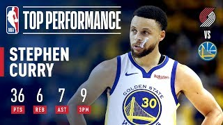 Steph Curry Drops 36 Points on 9 Threes! | May 14, 2019
