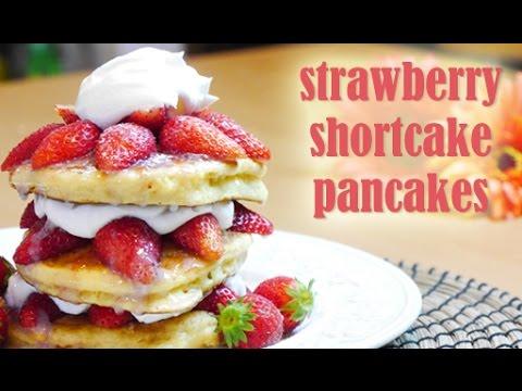 Strawberry Shortcake Pancakes(RECIPE) イチゴショートケーキ・パンケーキの作り方(レシピ)