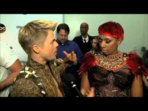 NeNe Leakes & Derek Hough - Post show interviews - Week 4 (Switch up)