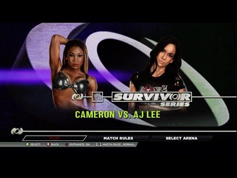 WWE 2K15 Cameron vs Aj Lee Legend Difficulty