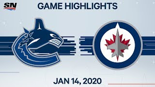 NHL Highlights | Canucks vs. Jets – Jan. 14, 2020