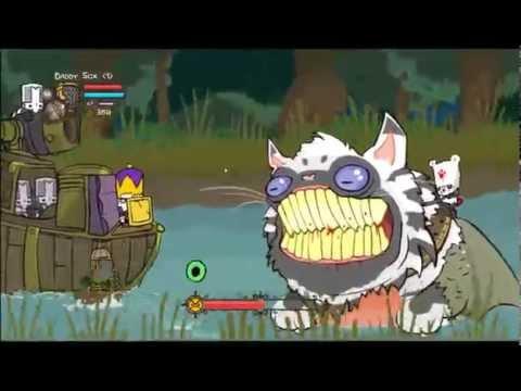 Castle Crashers - Solo - Boss Fight Wet Pussy video