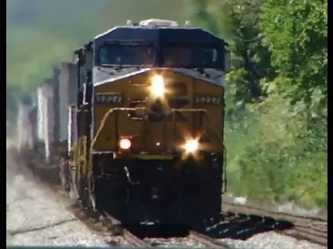 CSX Intermodal train at Muirkirk Station, Maryland.