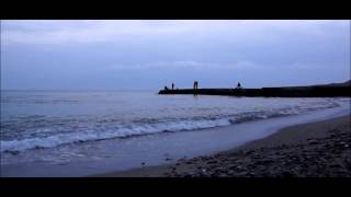 A walk by the winter sea - Cinematic look (Andoer slider track test HD video)