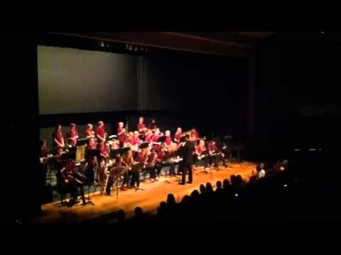 Altona middle school jazz band performing green onions