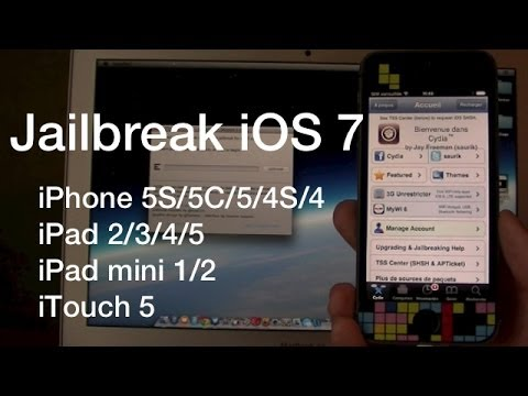 Jailbreak Untethered iOS 7.0 - 7.0.6   iPhone 5S/5C/5/4S/4. iPad 2/3/4/5. iTouch 5 et iPad mini 1/2