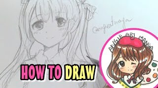 DRAWING TUTORIAL of Manga Anime Girl- Real time drawing! ???????