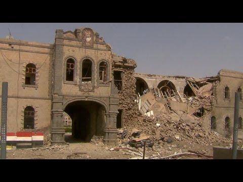 Rare view of destruction inside Yemen's civil war