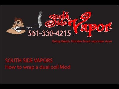 South Side Vapor Delray I How to wrap a dual coil. Vaporizer Shop