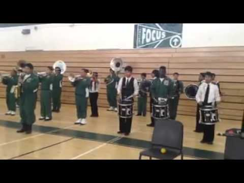 "Cross Keys High School Band ""locked out of heaven"""