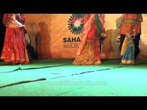 Puppets Dancing To The Dhol Beats - Durga Puja Celebrations At Cr Park, Delhi video