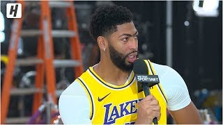 Anthony Davis Ready for Lakers Debut, Full Interview | 2019 NBA Media Day
