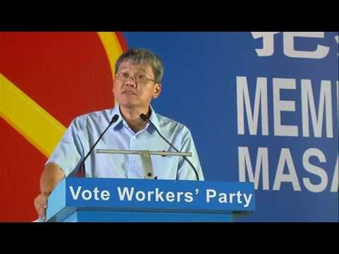 Workers' Party rally @ Hougang Central (Please excuse the disruptions)