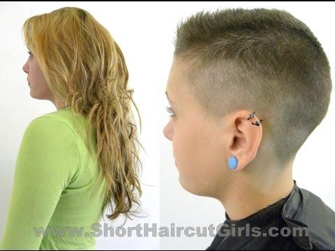Clipper Cut Makeover www.ShortHaircutGirls.com Long to Short Flattop