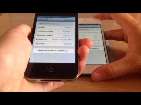 iPhone 4 vs. iPod Touch 5G Geekbench Test [German,Deutsch] [Full HD]