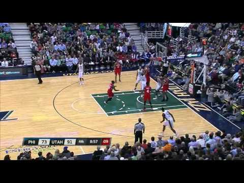 [March 25, 2013] Enes Kanter's Hammer Dunk, Utah Jazz vs Philadelphia 76ers